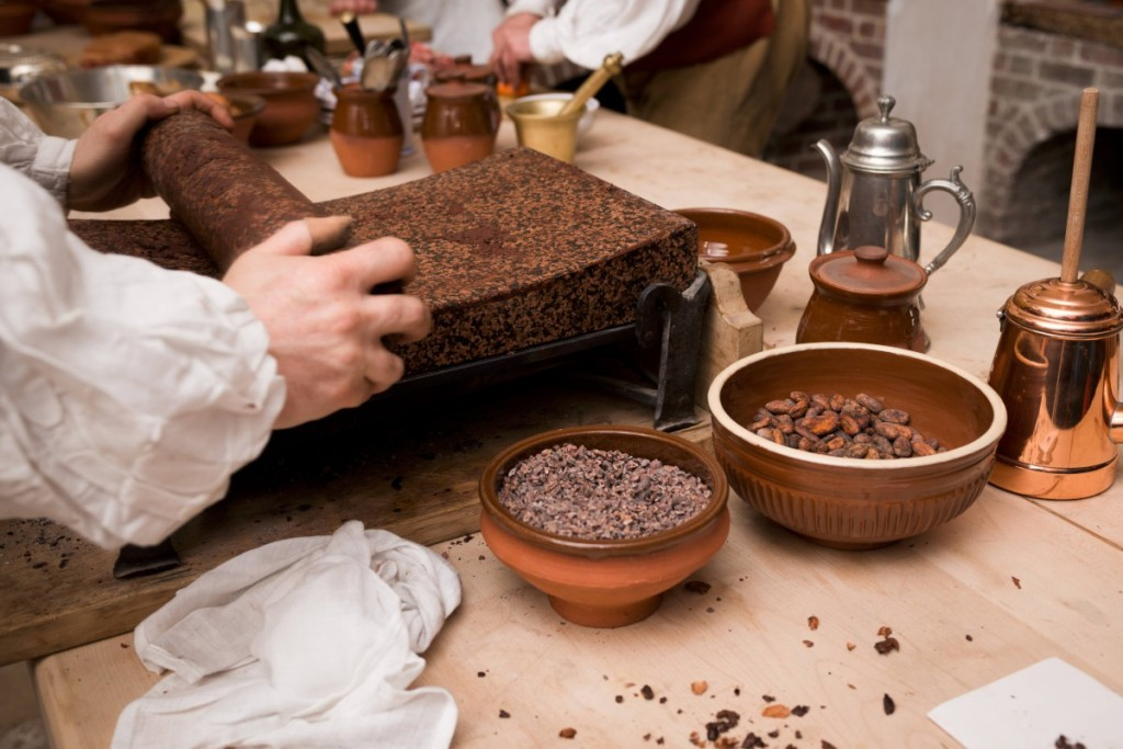 history of chocolate The olmecs (1500-400 bc) were almost certainly the first humans to consume chocolate, originally in the form of a drink they crushed the cocoa beans, mixed them with water and added spices, chillies and herbs they began cultivating cocoa in equatorial mexico.