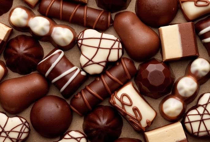 Виды шоколадных конфет