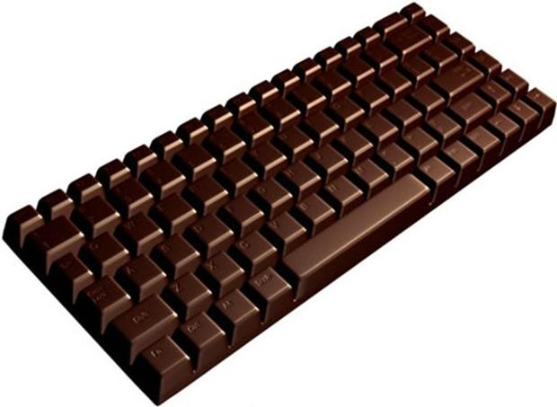 Клавиатура с дизайном шоколадки