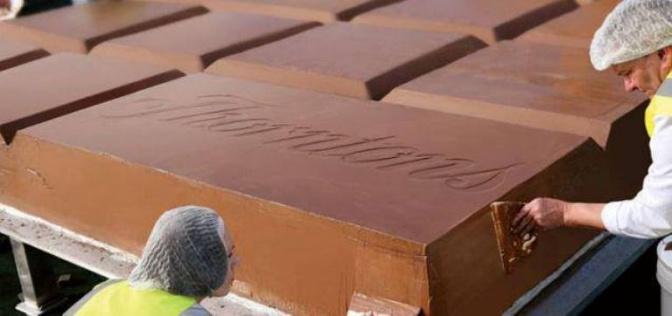 Британская рекордсменка - плитка шоколада