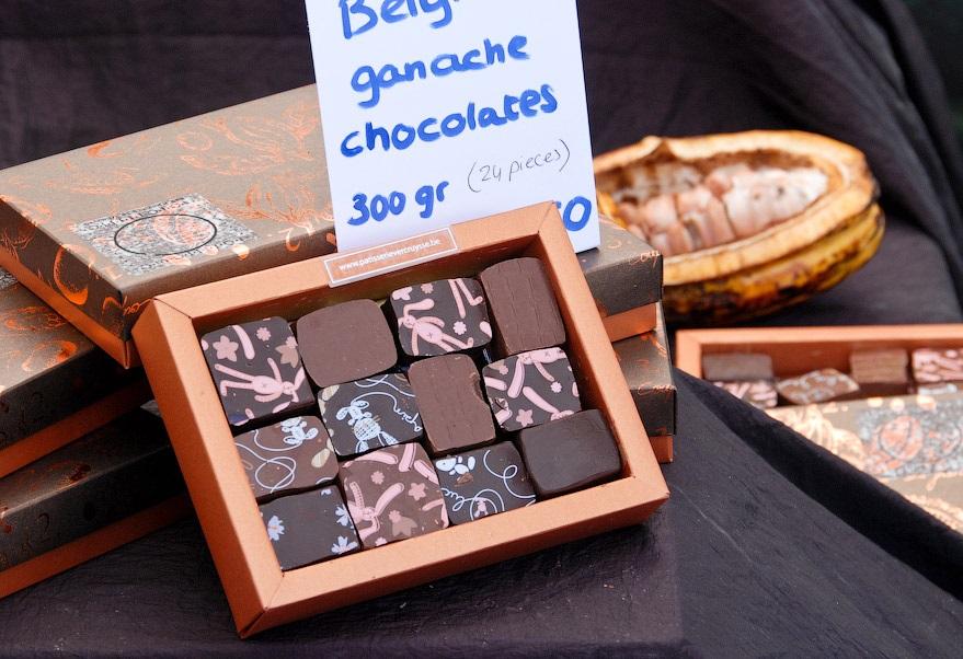Шоколадные конфеты с начинкой из ганаша