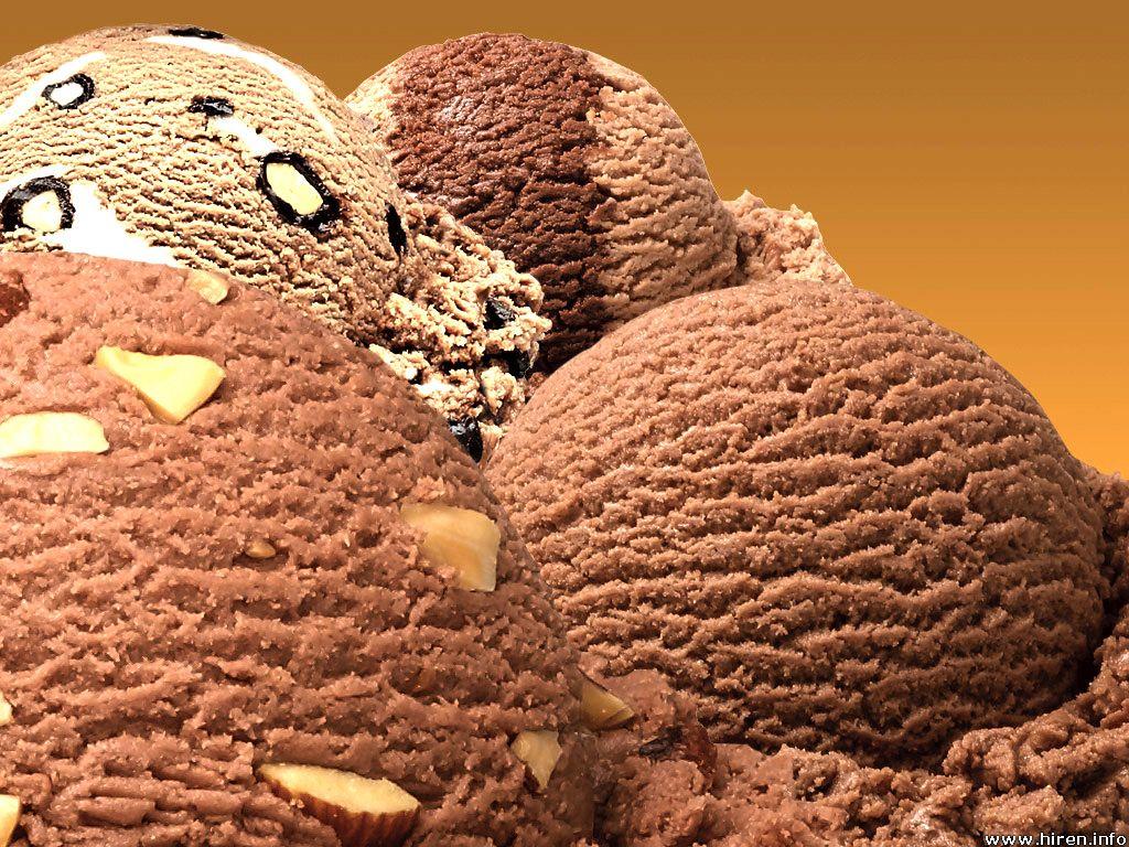 Шоколадное мороженое с апельсином