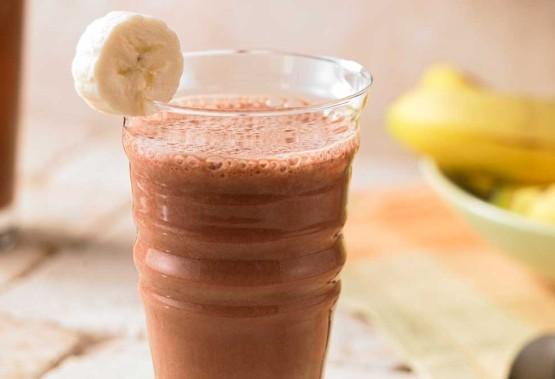 Шоколадно-банановое фраппе