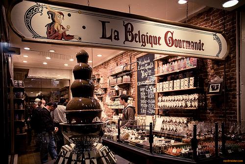 Шоколадный салон в Брюсселе