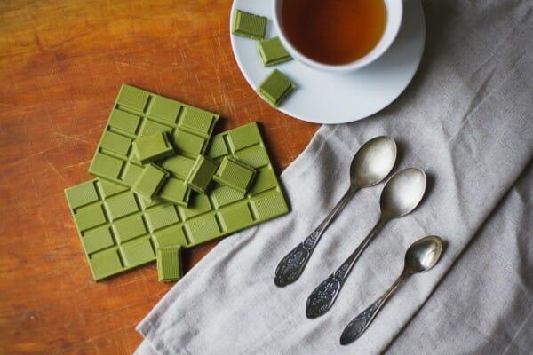 Зелёный шоколад с чаем матча OKASI